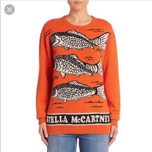 Stella McCartney Orange Fish Sweater